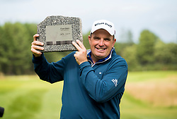 Anthony Wall celebrates winning the Paul Lawrie Match Play at Archerfield Links, East Lothian. PRESS ASSOCIATION Photo. Picture date: Sunday August 7, 2016. See PA story GOLF Archerfield. Photo credit should read: Craig Watson/PA Wire. RESTRICTIONS: Editorial use only. No commercial use. No false commercial association. No video emulation. No manipulation of images.