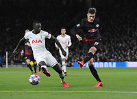 Football - 2019 / 2020 UEFA Champions League - Round of Sixteen, First Leg: Tottenham Hotspur vs. RB Leipzig<br /> <br /> Patrik Schick of Leipzig and Davinson Sanchez of Spurs, at The Tottenham Hotspur Stadium.<br /> <br /> COLORSPORT/ANDREW COWIE