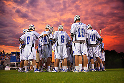 10 May 2009: Duke Blue Devils men's lacrosse in a 14-5 win over the Navy Midshipmen during the NCAA first round at Koskinen Stadium in Durham, NC.<br /> <br /> (Note: Image was modified by increasing saturation and applying a levels mask.)