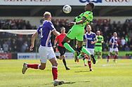 Forest Green Rovers Shawn McCoulsky(21) controls the ball during the EFL Sky Bet League 2 match between Forest Green Rovers and Exeter City at the New Lawn, Forest Green, United Kingdom on 4 May 2019.