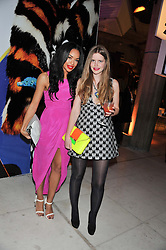 Left to right, SARAH-JANE CRAWFORD and KATIE READMAN at the Vogue Festival Party 2013 in association with Vertu held at the Queen Elizabeth Hall, Southbank Centre, London SE1 on 27th April 2013.