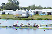 Eton Dorney, Windsor, Great Britain,..2012 London Olympic Regatta, Dorney Lake. Eton Rowing Centre, Berkshire[ Rowing]...Description;  GBR W4X Race start GBR W4X.   10:00:09  Saturday  28/07/2012.[Mandatory Credit: Peter Spurrier/Intersport Images].