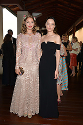 Left to right, ARIZONA MUSE and NATY CHABANENKO at The Women for Women International & De Beers Summer Evening held at The Royal Opera House, Covent Garden, London on 23rd June 2014.