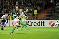 Fotball<br /> Tyskland<br /> 18.08.2010<br /> Foto: Witters/Digitalsport<br /> NORWAY ONLY<br /> <br /> Tor 2:0 Elfmeter Torsten Frings (Bremen)<br /> <br /> UEFA Champions League Qualifikation SV Werder Bremen - Sampdoria Genua