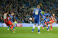 Bournemouth's Harry Arter scores his sides first goal  <br /> <br /> Photographer Ian Cook/CameraSport<br /> <br /> Football - The Football League Sky Bet Championship - Cardiff v Bournemouth - Tuesday 17th March 2015 - Cardiff City Stadium - Cardiff<br /> <br /> © CameraSport - 43 Linden Ave. Countesthorpe. Leicester. England. LE8 5PG - Tel: +44 (0) 116 277 4147 - admin@camerasport.com - www.camerasport.com