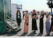 Queuing for the loo,  Independent Spirit Awards 2000. Santa Monica Beach. 25/3/2000.<br />© Copyright Photograph by Dafydd Jones 66 Stockwell Park Rd. London SW9 0DA Tel 0171 733 0108 www.dafjones.com