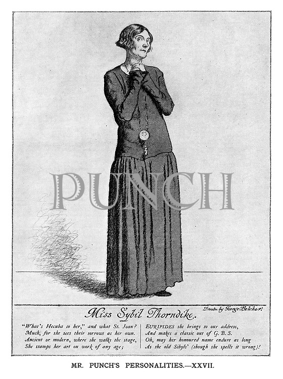Mr Punch's Personalities. XXVII. Miss Sybil Thorndike