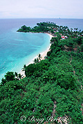 view from lighthouse over west end of Malapascua Island, central Philippines, Vizcayan Sea, Western Pacific Ocean