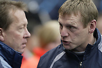Photo: Aidan Ellis.<br /> Manchester City v Charlton Athletic. The Barclays Premiership. 12/02/2006.<br /> Stuart Pearce chats to Alan Curbishley before the game kicks off