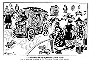 """[""""The auto-car will soon make its appearance in Peking.""""—Echo.] And so will the auto-cab, if our prophetic Chinese artist is right."""