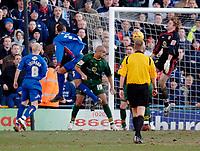 Photo: Daniel Hambury.<br />Crystal Palace v Norwich City. Coca Cola Championship. 25/02/2006.<br />Palace's Fitz Hall (2nd, L) scores to make it 4-0.