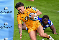Rugby Union - 2019 / 2020 Gallagher Premiership - Bath vs Wasps<br /> <br /> Wasps' Jacob Umaga scores his sides first try, at the Recreation Ground.<br /> <br /> COLORSPORT/ASHLEY WESTERN
