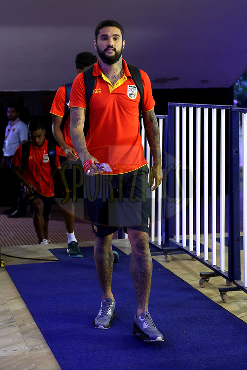 Mumbai City FC player arrives for the match 27 of the Hero Indian Super League 2018 ( ISL ) between Chennaiyin FC  and Mumbai City FC  held at the Jawaharlal Nehru Stadium, Chennai, India on the 3rd November 2018<br /> <br /> Photo by: Sandeep Shetty /SPORTZPICS for ISL