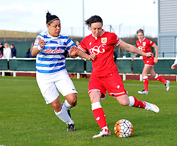 Corinne Yorston defender for Bristol City Women in action during the FA Cup third round match between Bristol City Women and QPR Ladies at Stoke Gifford Stadium on 14 February 2016 in Bristol, England - Mandatory by-line: Paul Knight/JMP - Mobile: 07966 386802 - 14/02/2016 -  FOOTBALL - Stoke Gifford Stadium - Bristol, England -  Bristol Academy Women v QPR Ladies - FA Cup third round