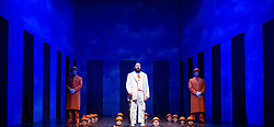 The Magic Flute <br /> Music by Mozart <br /> Welsh National Opera, Wales Millennium Centre, Cardiff, Wales, Great Britain <br /> 13th February 2019 <br /> Directed by Dominic Cooke <br /> <br /> James Platt as Sarastro<br /> <br /> <br /> Photograph by Elliott Franks