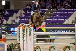 TEBBEL Maurice (GER), Vuccello<br /> Frankfurt - Festhallen Reitturnier 2019<br /> Preis der Lufthansa Cargo AG<br /> 1. Qualifikation der Youngster Tour: Int. Zwei-Phasen-Springprüfung für 7-8 jährige Pferde (1,35m)<br /> 20. Dezember 2019<br /> © www.sportfotos-lafrentz.de/Stefan Lafrentz