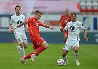 Fotball, 18. juli 2021 , Eliteserien , Brann- Mjøndalen<br /> Robert Thomas Taylor  , Brann<br /> Stian Aasmundsen , MIF