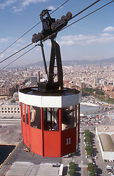 Cable car in Barcelona,