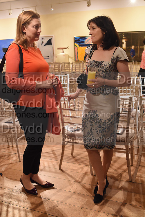 HELEN MEENAN; KATHLEEN GARRETT; The Arthur Cox Irish Fashion Showcase 2015,  Irish based designers chosen to be part of this year's Arthur Cox Irish Fashion Showcases The Mall Galleries, London. 13 May 2015.