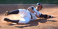 MORNING JOURNAL/DAVID RICHARD<br />Aaron Boone scores on a double by Casey Blake yesterday in the bottom of the seventh inning at Jacobs Field.