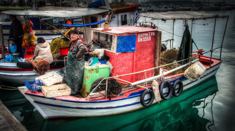 Fishermen in Volos harbour - 10