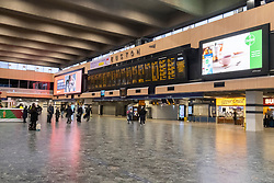 © Licensed to London News Pictures. 23/12/2020. London, UK. Euston train station is empty of passengers as the Christmas holiday getaway commences. London has been placed in Tier 4 travel restrictions during the new Covid-19 virus pandemic. Photo credit: London News Pictures
