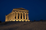 Greek temple architecture, Sicily – Valley of Temples, an UNESCO World Heritage Site near Agrigento, Sicily.