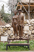 Israel, Carmel, Ein Hod Artist's village, Lovers on Wheels by Benjamin Levy