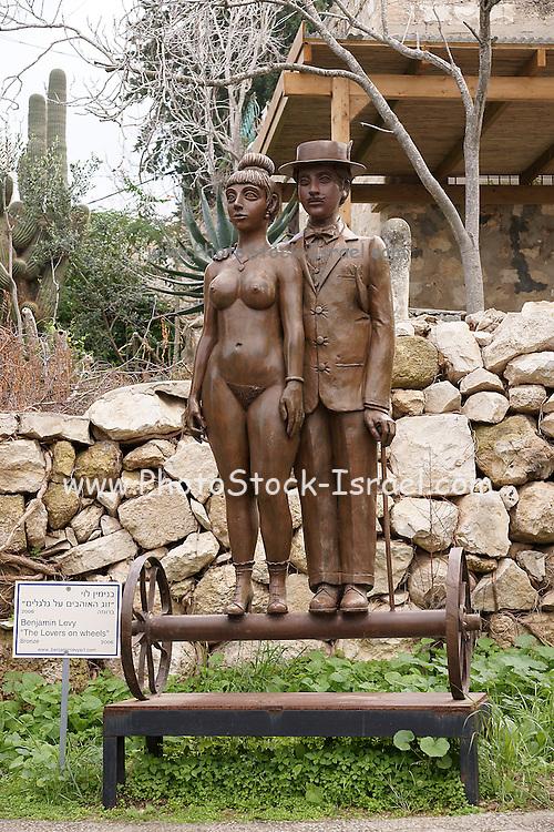 Israel, Carmel, Ein Hod Artist's village, Lovers on Wheels by Benjamin Levy
