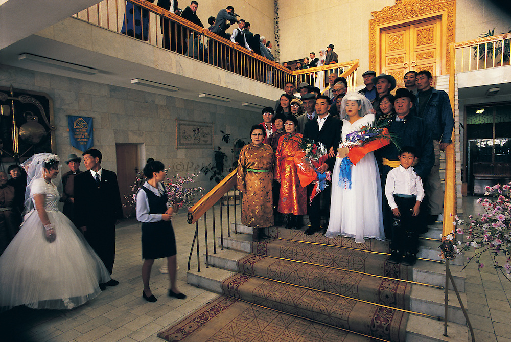 4 Oct, 2001 Auspicious Day<br /> 83 Couples married at Wedding Palace<br /> Starting 4am - 9pm<br /> Ulaanbaatar<br /> Mongolia