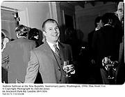 Andrew Sullivan at the New Republic Anniversary party. Washington. 1994. Film 94487f10<br />© Copyright Photograph by Dafydd Jones<br />66 Stockwell Park Rd. London SW9 0DA<br />Tel 0171 733 0108