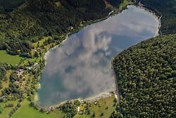 Luftaufnahme von Erlaufsee, Maria Zell, Oesterreich /  Aerial View from Erlaufsee, Maria Zell, Austria