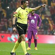 Referee's Ali Palabiyik during their Ziraat Turkey CUP soccer match Galatasaray between Eskisehirspor at the AliSamiYen TT Arena at Seyrantepe in Istanbul Turkey on Wednesday, 03 December 2014. Photo by Kurtulus YILMAZ/TURKPIX