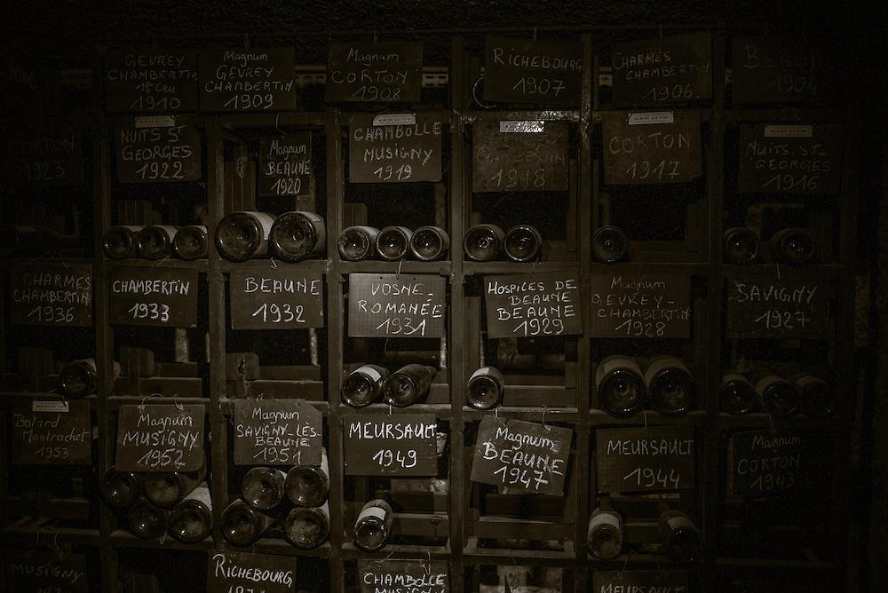 Wine cellar, Beaune, France. November 27, 2013. Photograph ©2013 Darren Carroll