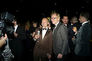 GRAHAM NORTON; DAVID COLLINS, Grey Goose Winter Ball to Benefit the Elton John AIDS Foundation. Battersea park. London. 29 October 2011. <br /> <br />  , -DO NOT ARCHIVE-© Copyright Photograph by Dafydd Jones. 248 Clapham Rd. London SW9 0PZ. Tel 0207 820 0771. www.dafjones.com.