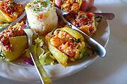 Shrimp chile relleno, Seafood restaurant, San Jose, Baja, Mexico