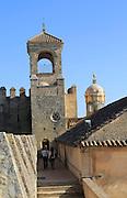 Tower and ramparts in the Alcazar fortress, Cordoba, Spain, Alcázar de los Reyes Cristianos