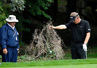 Photo: Richard Lane.<br />WGC American Express Championship, The Grove. 28/09/2006. <br />Colin Montgomerie of Scotland plays a drop shot during the 1st round.