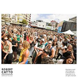 Kora at the Go Wellington Cuba St Carnival at Cuba St, Wellington, New Zealand.