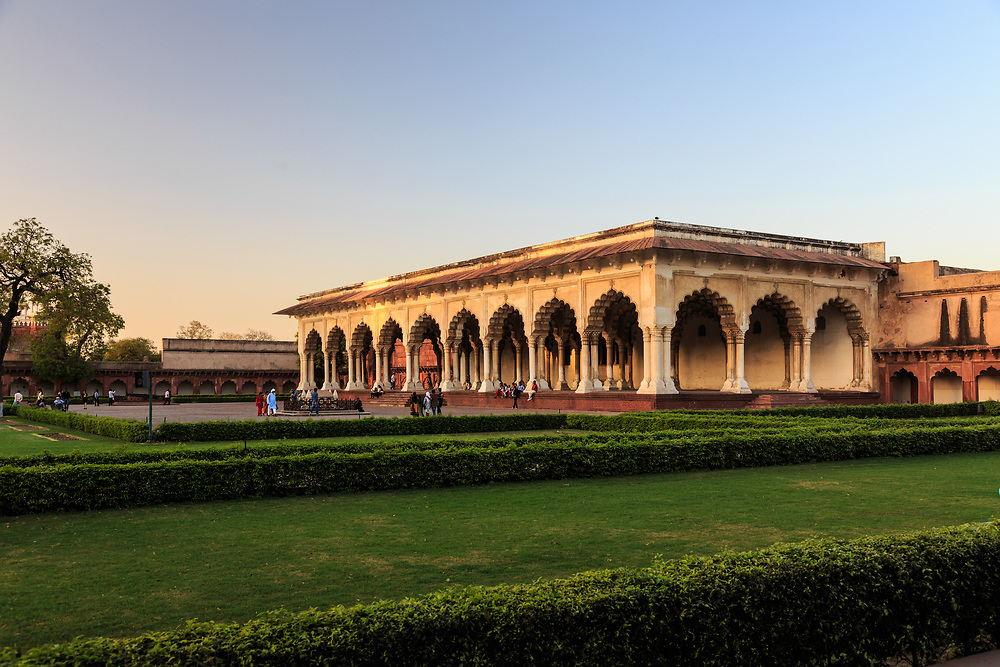 Diwan-i-am in Agra Fort , India. Diwan-I-Am or Hall of Public Audience was the place where the emperor addressed the general public as well as the nobility.