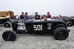 Legendary customizer Gene Winfield, at 91, racing an Ardun roadster he built in 1958 at TROG (The Race Of Gentlemen). Wildwood, NJ. USA. Saturday June 9, 2018. Photography ©2018 Michael Lichter.