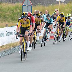WIJSTER (NED) June 20: <br /> CYCLING <br /> Dutch Nationals Road Men up and around the Col du VAM<br /> Pascal Eenkhoorn (Netherlands / Team Jumbo - Visma)<br /> Mike Teunissen (Netherlands / Team Jumbo - Visma)<br /> Jan Maas<br /> Olav Kooij (Netherlands / Team Jumbo Visma Academy)