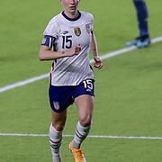 ORLANDO, FL - JANUARY 22:  Megan Rapinoe #15 of United States plays against Colombia at Exploria Stadium on January 22, 2021 in Orlando, Florida. (Photo by Alex Menendez/Getty Images) *** Local Caption *** Megan Rapinoe