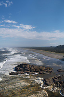 Long Beach seen from   Cape Disappointment State Park, Washington