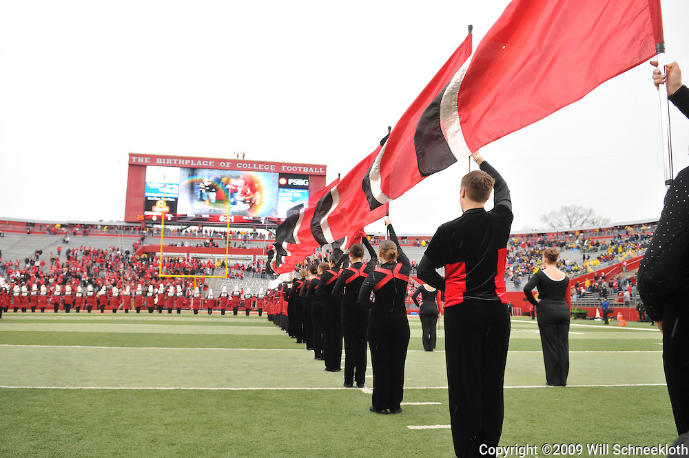 Dec 5, 2009; Piscataway, NJ, USA; The Rutgers color guard waits for the team to take the field before first half NCAA Big East college football action between Rutgers and West Virginia at Rutgers Stadium.