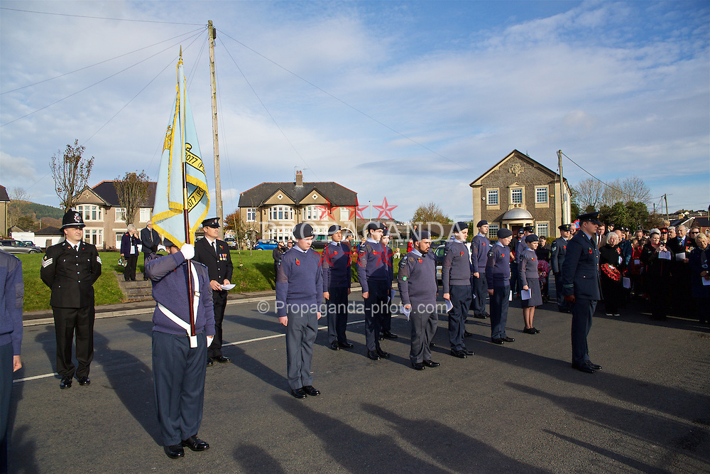 CARDIFF, WALES - Sunday, November 13, 2016: Cadets at the Pontyclun war memorial on Remembrance Sunday to remember those that lost their lives in the two Great Wars. (Pic by David Rawcliffe/Propaganda)