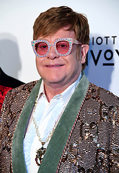 Elton John attending the Elton John AIDS Foundation Viewing Party held at West Hollywood Park, Los Angeles, California, USA.