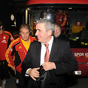 Galatasaray's coach Gheorghe HAGI (R) and  co trainer Tugay KERIMOGLU (C) during their Friendly soccer match Galatasaray between Ajax at the Turk Telekom Arena at Arslantepe in Istanbul Turkey on Saturday 15 January 2011. Turkish soccer team Galatasaray new stadium Turk Telekom Arena opening ceremony. Photo by TURKPIX