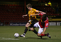 Photo: Rich Eaton.<br /> <br /> Crewe Alexandra v Hull City. Carling Cup. 15/08/2007. Hull's Stephen McPhee (l) scores in the second half despite Danny Woodards challenge to make the score 3-0.