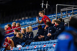 OSLO, NORWAY - Tuesday, September 22, 2020: Norway's Caroline Graham Hansen is forced off injured during the UEFA Women's Euro 2022 England Qualifying Round Group C match between Norway Women and Wales Women at the Ullevaal Stadion. Norway won 1-0. (Pic by Vegard Wivestad Grøtt/Propaganda)